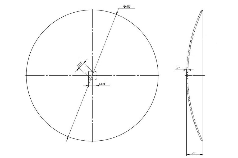 Plain disk John Deere