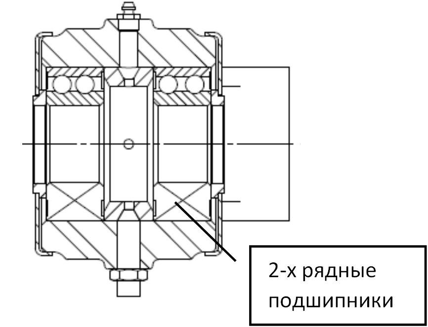 Двухрядные подшипники на культиватор КПГ