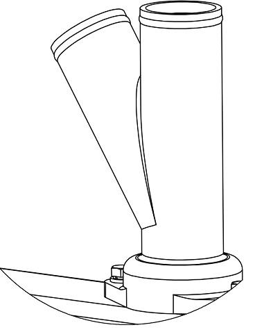 Пластиковый трубопровод семян сеялки СЗМ-4