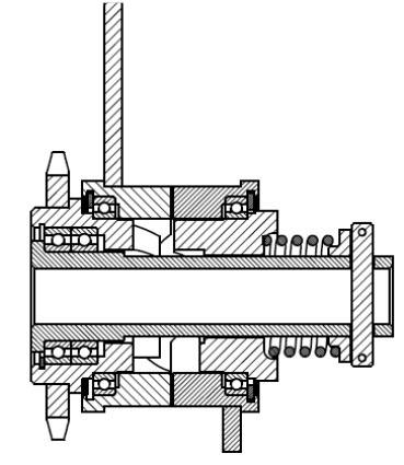 Храповик подшипника сеялки СЗМ-4 в разрезе