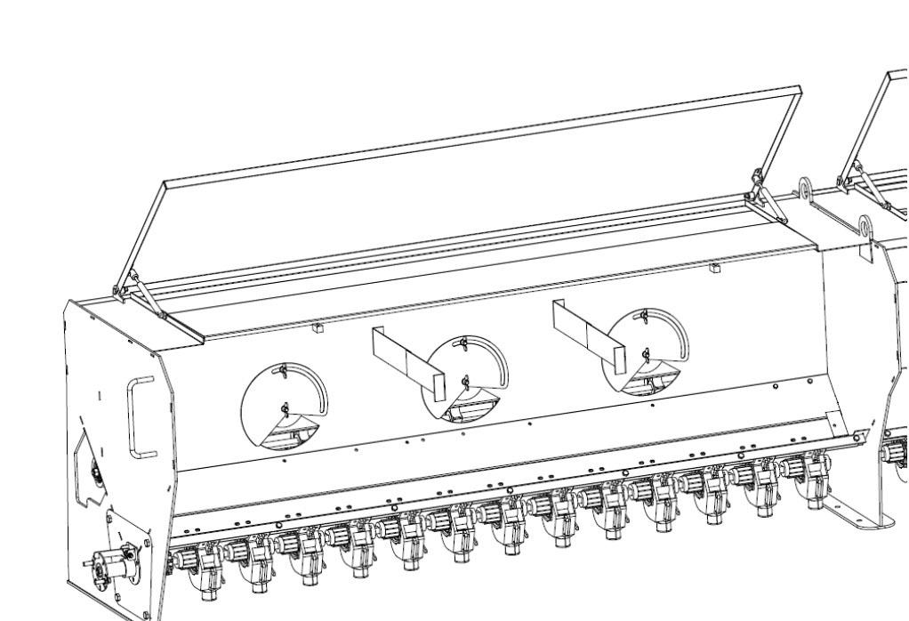 Крышка бункера сеялки СЗМ-4
