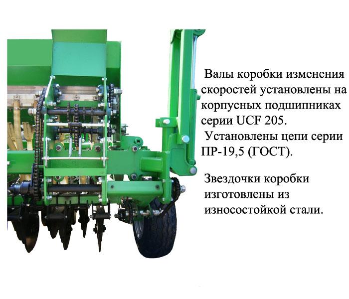 Коробка регулировки высева сеялки СЗМ-4