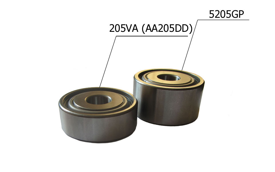 Double row and single row bearing comparison