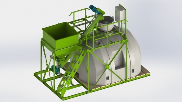 Unit for preparation of liquid concentrated fertilizers